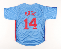 """Pete Rose Signed Jersey Inscribed """"4000th Hit"""" (Fiterman Sports Hologram) at PristineAuction.com"""