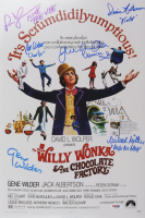 """""""Willy Wonka & The Chocolate Factory"""" 12x18 Photo Signed By (6) with Gene Wilder, Peter Ostrum, Denise Nickerson, Julie Dawn Cole, Paris Themmen, & Michael Bollner with Character Inscriptions (PSA Hologram) at PristineAuction.com"""