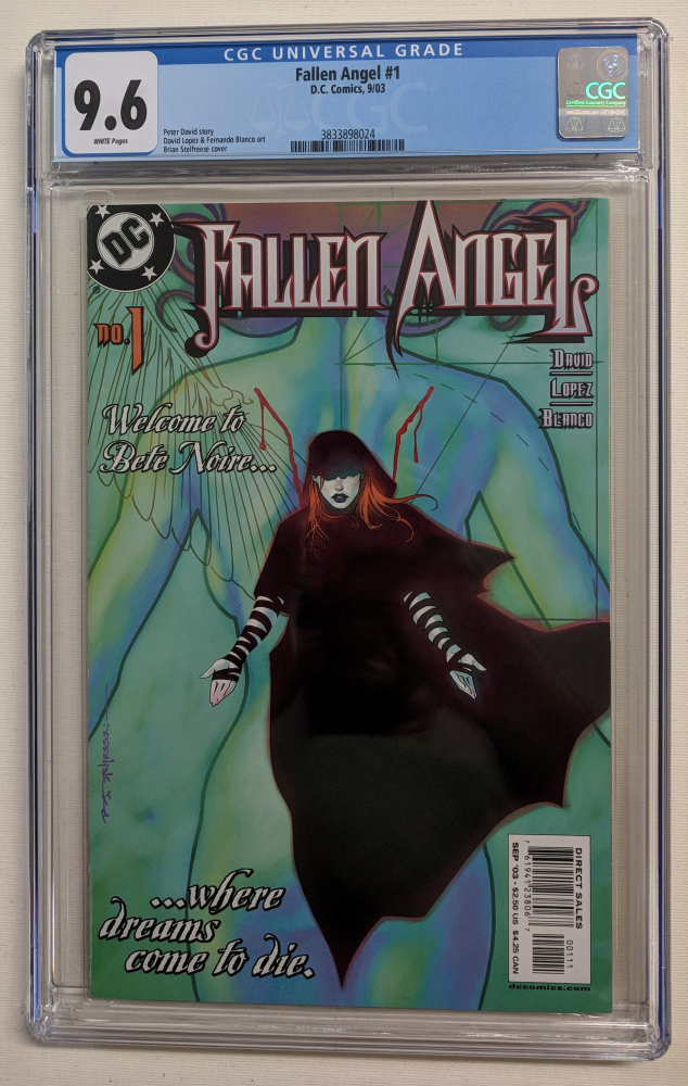 """2003 """"Fallen Angels"""" Issue #1 D.C. Comic Book (CGC 9.6) at PristineAuction.com"""