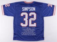 O. J. Simpson Signed Career Highlight Stat Jersey (JSA Hologram) at PristineAuction.com