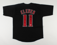 """Millie Bobby Brown Signed Jersey Inscribed """"011"""" (JSA COA) at PristineAuction.com"""