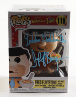 "Jeff Bergman Signed ""The Flintstones"" #119 Fred Flinstone (With Cocoa Pebbles) Funko Pop! Vinyl Figure Inscribed ""Yabba Dabba Doo"" (PSA COA) at PristineAuction.com"