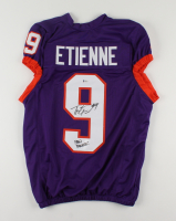 """Travis Etienne Signed Jersey Inscribed """"Paw Power!"""" (Beckett COA) at PristineAuction.com"""