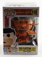 "Jeff Bergman Signed ""The Flintstones"" #119 Fred Flinstone (With Cocoa Pebbles) Funko Pop! Vinyl Figure Inscribed ""Yabba Dabba Doo!"" (PSA COA) at PristineAuction.com"
