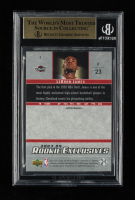 LeBron James 2003-04 Upper Deck Rookie Exclusives #1 RC (Beckett 9.5) at PristineAuction.com