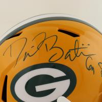 "David Bakhtiari Signed Packers Full-Size Speed Helmet Inscribed ""Dinner for two"" (Beckett Hologram) at PristineAuction.com"