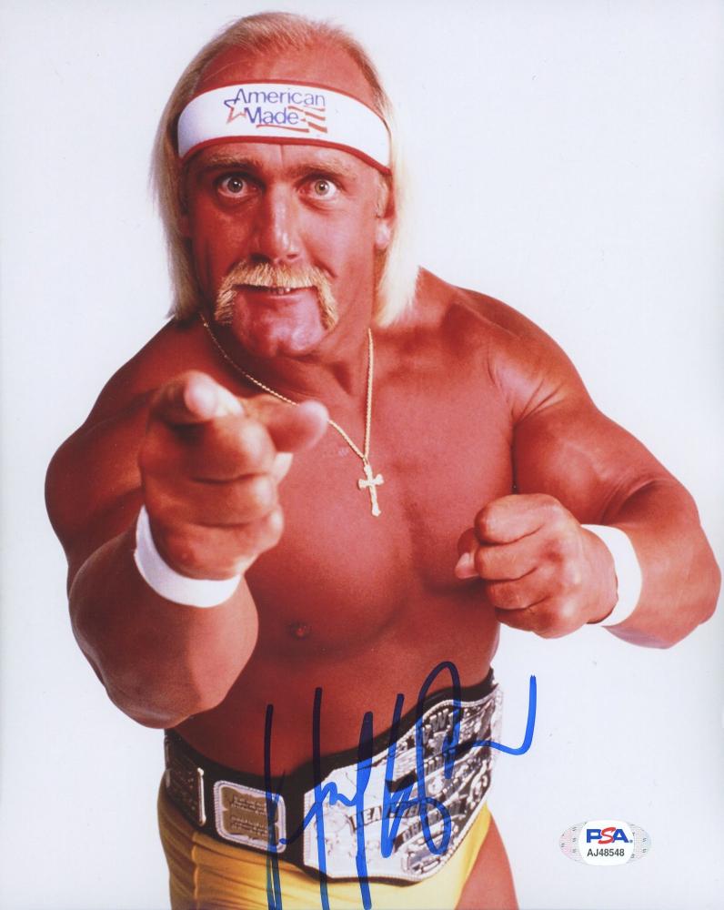Hulk Hogan Signed WWE 8x10 Photo (PSA Hologram) at PristineAuction.com
