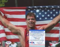 "Kurt Angle Signed Team USA 8x10 Photo Inscribed ""Gold 96"" (PSA COA) at PristineAuction.com"
