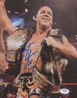 "Kurt Angle Signed WWE 8x10 Photo Inscribed ""HOF 17"" (PSA COA) at PristineAuction.com"
