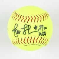 "Jennie Finch Signed Softball Inscribed ""USA"" (Beckett COA) at PristineAuction.com"