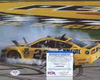 Joey Logano Signed NASCAR 8x10 Photo (PSA COA) at PristineAuction.com