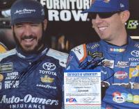 Kyle Busch & Martin Truex Jr. Signed NASCAR 8x10 Photo (PSA COA) at PristineAuction.com