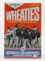 """Paul Molitor Signed Twins World Series Champions Wheaties Cereal Box Inscribed """"3000"""" (Beckett COA) (See Description) at PristineAuction.com"""
