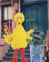 "Caroll Spinney Signed ""Sesame Street"" 11x14 Photo Inscribed ""Big Bird!"" & ""Scram! Oscar!!"" (Beckett COA) (See Description) at PristineAuction.com"