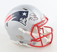 Damien Harris Signed Patriots Full-Size Authentic On-Field Speed Helmet (Beckett COA) (See Description) at PristineAuction.com