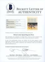 Michael Jordan Signed 8x10 Magazine Page (Beckett LOA) at PristineAuction.com