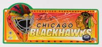Stan Mikita Signed Blackhawks 7x19 Locker Room Sign (Beckett COA) (See Description) at PristineAuction.com