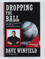 """Dave Winfield Signed """"Dropping The Ball"""" Hardcover Book Inscribed """"HOF 2001"""" (JSA COA) (See Description) at PristineAuction.com"""