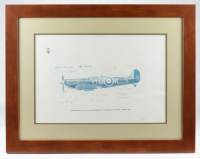 """""""40th Anniversary of the Battle of Britain"""" 23x29 Lithograph Signed by (22) with R. L. Stillwell, Sandy Johnstone, L. W. Harvey (JSA ALOA) at PristineAuction.com"""