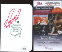 Fuzzy Zoeller Signed Augusta National Golf Club Score Card (JSA COA) at PristineAuction.com