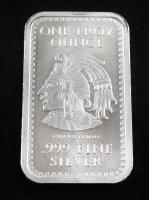 """1 Oz .999 Fine Silver """"Cauhtemoc"""" Silver Bullion Bar at PristineAuction.com"""