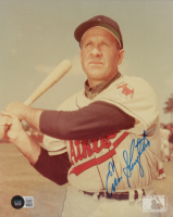 Enos Slaughter Signed Athletics 8x10 Photo (Beckett COA) at PristineAuction.com