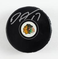 Dylan Strome Signed Blackhawks Logo Hockey Puck (Schwartz Sports COA) at PristineAuction.com