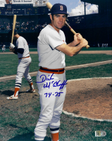 """Dick McAuliffe Signed Red Sox 8x10 Photo Inscribed """"74-75"""" (AIV COA) at PristineAuction.com"""