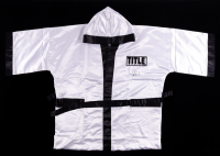 """Virgil Hill Signed Title Boxing Robe Inscribed """"HOF-13"""" (Schwartz Sports COA) at PristineAuction.com"""