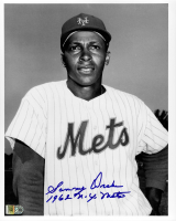 """Sammy Drake Signed Mets 8x10 Photo Inscribed """"1962 N.Y. Mets"""" (AIV COA) at PristineAuction.com"""