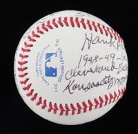 "Hank Presswood, Johnny Washington & Nathan ""Sonny"" Weston Signed OL Baseball With Multiple Inscriptions (JSA COA) at PristineAuction.com"