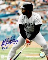 """Mike Easler Signed Red Sox 8x10 Photo Inscribed """"84-85"""" (AIV COA) at PristineAuction.com"""