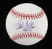 """Bob Feller Signed OML Baseball Inscribed """"HOF 62"""" (JSA COA) at PristineAuction.com"""