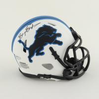 Barry Sanders Signed Lions Lunar Eclipse Alternate Speed Mini Helmet (Schwartz COA) at PristineAuction.com