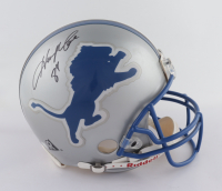 Herman Moore Signed Lions Full-Size Authentic On-Field Helmet (Beckett Hologram) at PristineAuction.com