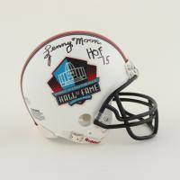 "Lenny Moore Signed Hall of Fame Logo Mini Helmet Inscribed ""HOF 75"" (Schwartz Sports COA) at PristineAuction.com"