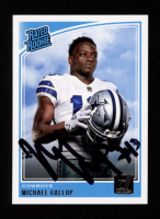 Michael Gallup Signed 2018 Donruss #324 RR RC (Beckett Hologram) at PristineAuction.com