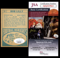 """Bob Lilly Signed 1968 Topps #181 Inscribed """"HOF 80"""" (JSA COA) at PristineAuction.com"""