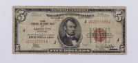 1929 $5 Five-Dollars U.S. National Currency Bank Note - (The Federal Reserve Bank of Kansas City, Missouri) at PristineAuction.com