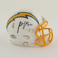 Austin Ekeler Signed Chargers Speed Mini Helmet (Schwartz Sports Hologram) at PristineAuction.com