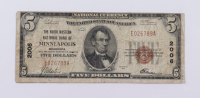 1929 $5 Five-Dollars U.S. National Currency Bank Note - (The North Western National Bank of Minneapolis, Minnesota) at PristineAuction.com