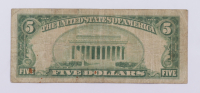 1929 $5 Five-Dollars U.S. National Currency Bank Note - (The Federal Reserve Bank of Philadelphia, Pennsylvania) at PristineAuction.com