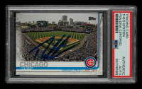 Theo Epstein Signed 2019 Topps #197 Wrigley Field (PSA Encapsulated) at PristineAuction.com