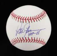 "Peter Gammons Signed OML Baseball Inscribed ""HOF 04"" (JSA COA) at PristineAuction.com"