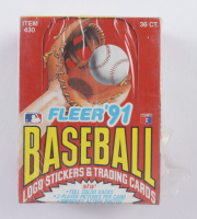 1991 Fleer Baseball Hobby Box with (36) Packs (See Description) at PristineAuction.com