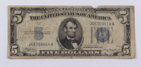 1934-A $5 Five-Dollar Blue Seal Silver Certificate Note at PristineAuction.com