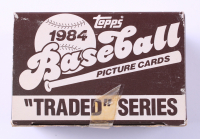 1984 Topps Traded Series Baseball Card Box with (132) Cards (See Description) at PristineAuction.com