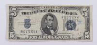1934-D $5 Five-Dollar Blue Seal Silver Certificate Note at PristineAuction.com