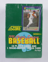1991 Score Series 1 Baseball Wax Box with (36) Packs at PristineAuction.com
