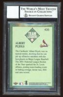Albert Pujols Signed 2001 Fleer Platinum #435 TL (BGS Encapsulated) at PristineAuction.com